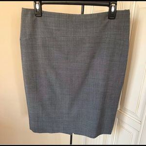 Limited Travel Collection Gray Wool Blend Skirt 8